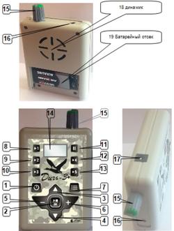 Схема управления электронным манком Дичь 3+